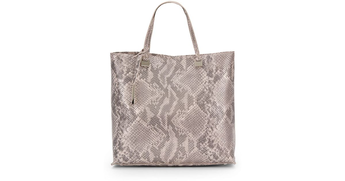 6200a8ad07bf Ivanka Trump Julia Snake-Embossed Faux Leather Tote Bag - Lyst