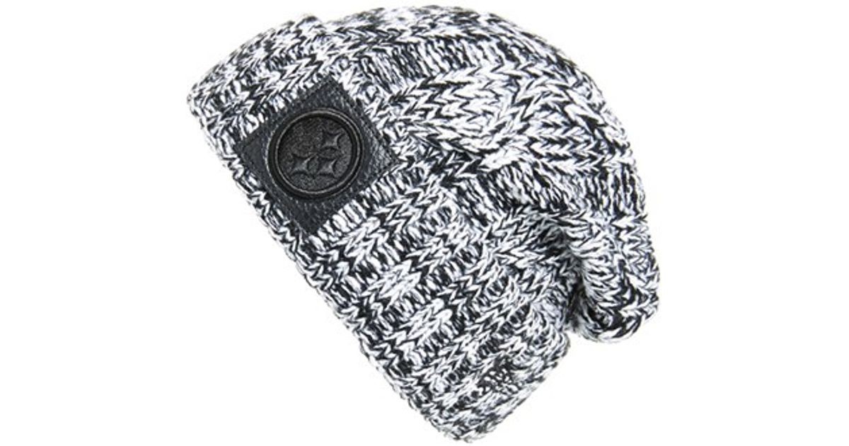9a82755c3 Lyst - Ktz  ohana - Pittsburgh Steelers  Cable Knit Beanie in Black for Men