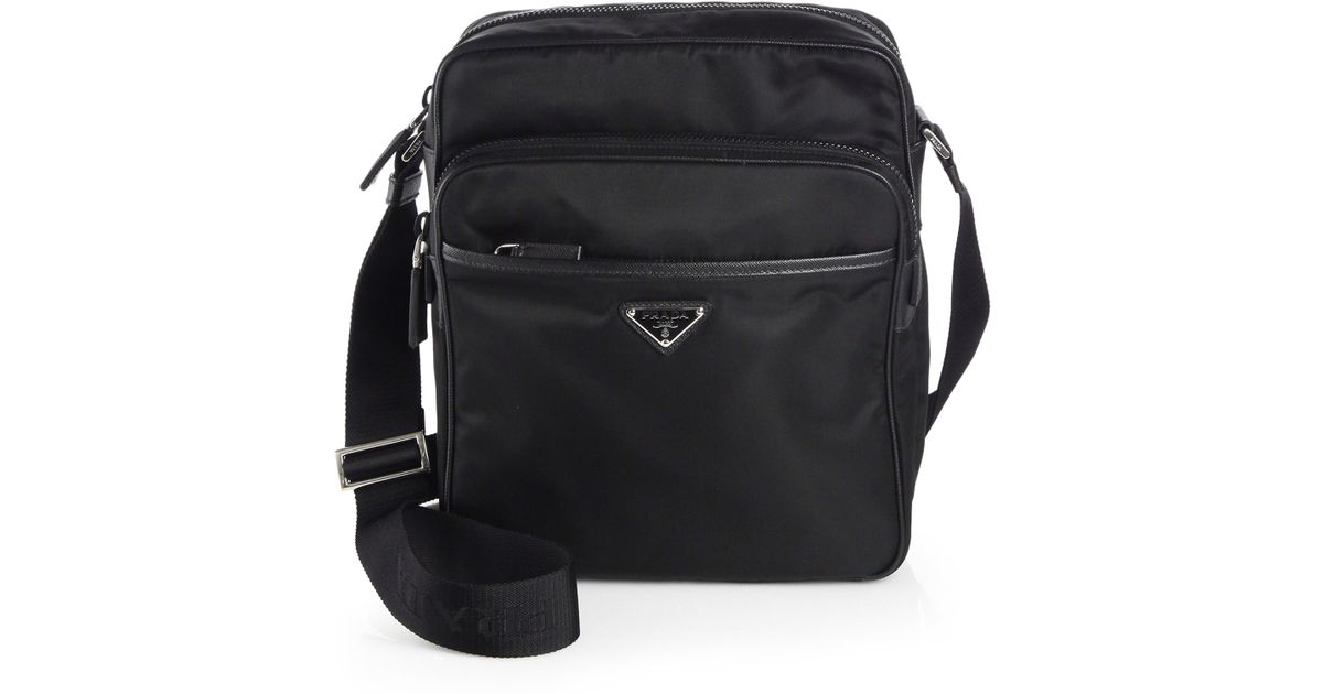 bbf67b6774ed ... ireland lyst prada nylon camera bag in black for men b7557 1fee3