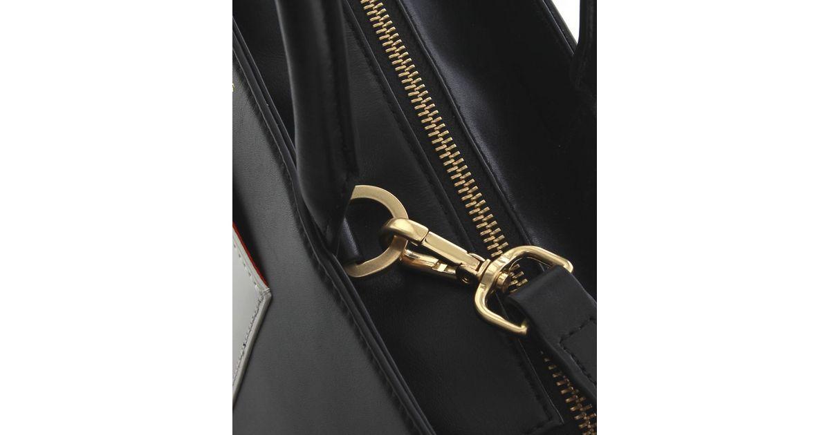 4e71516a8ff Lyst - Lulu Guinness Doll Face Wanda Tote Bag in Black
