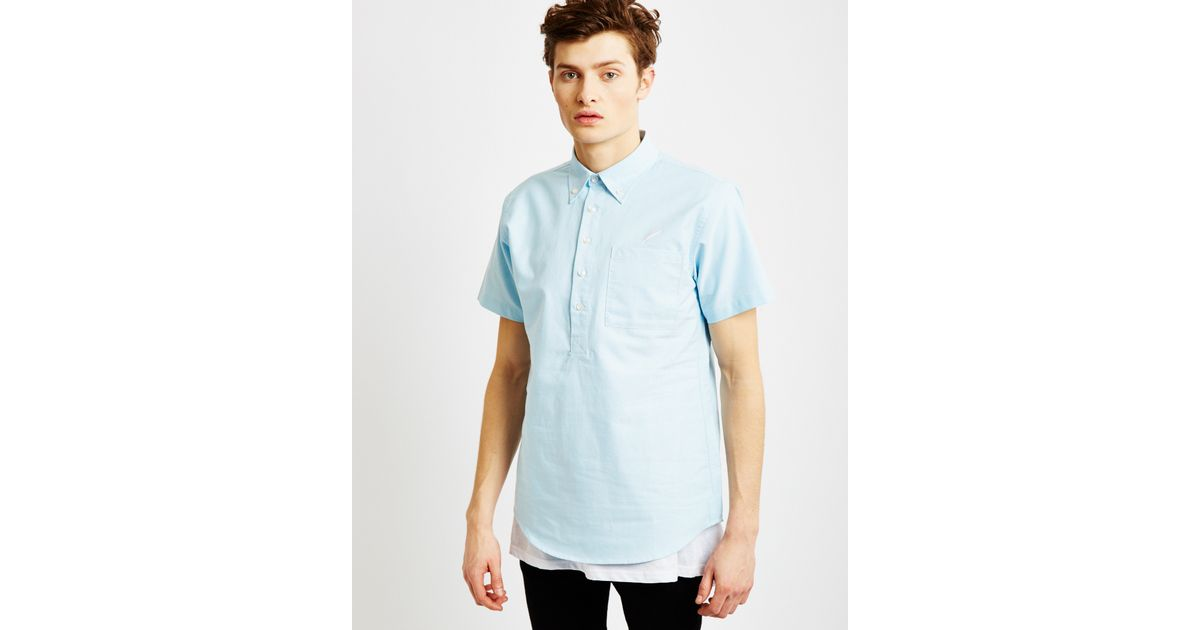Timberland Theodore Short Sleeve Shirt Light Blue In Blue