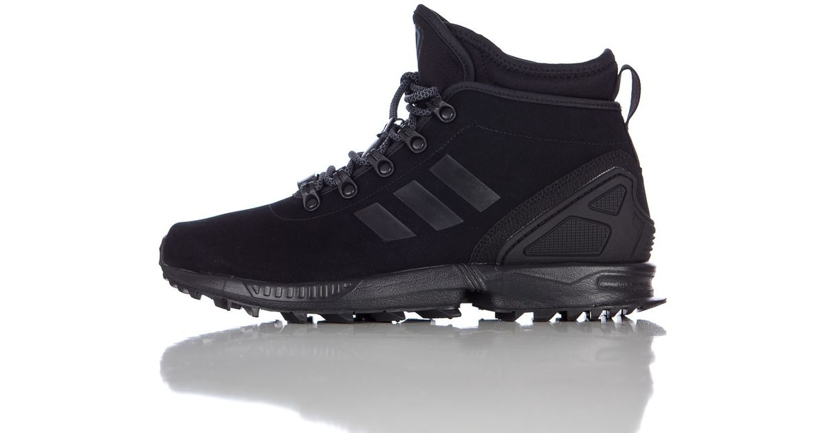 421063df1 Lyst - adidas Zx Flux Winter Leather Boot In Core Black in Black for Men