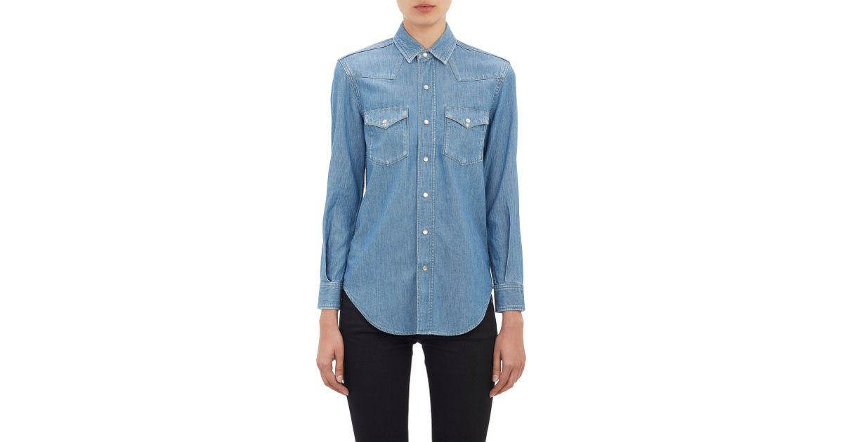 7a66b61ebb4 Saint Laurent Denim Shirt