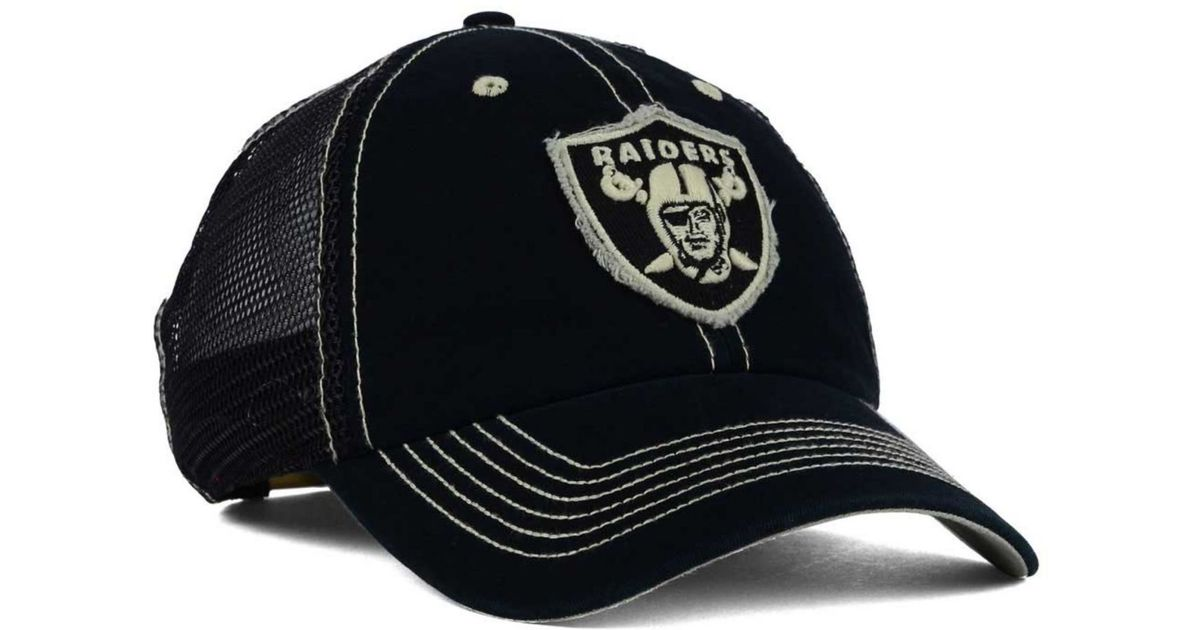 innovative design 688f9 4101e ... coupon code for lyst 47 brand oakland raiders turner mesh clean up cap  in black for