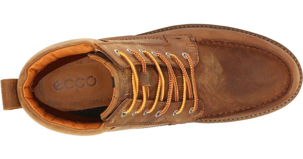 3730e4dae0 Ecco Holbrok Moc Toe Boot in Brown for Men - Lyst