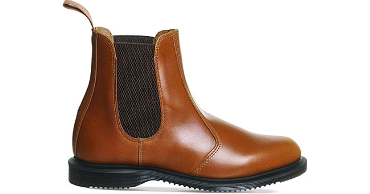 b73adc2486382 Lyst - Dr. Martens Kensington Flora Leather Chelsea Boots in Brown