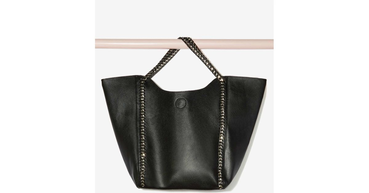 Nasty gal Chain Attraction Oversized Tote Bag in Black | Lyst