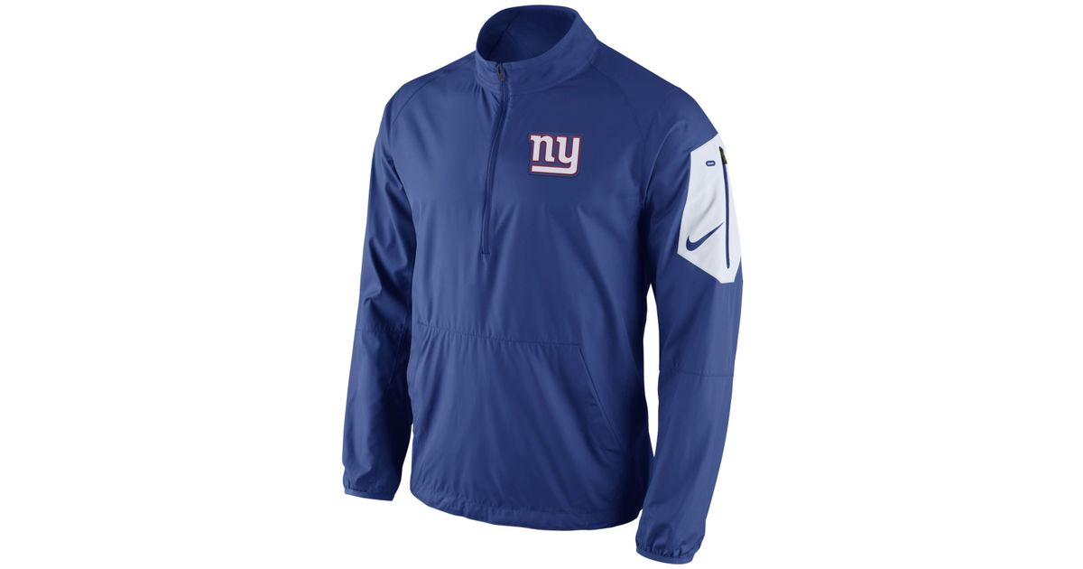 Lyst - Nike Men s New York Giants Lockdown Half-zip Jacket in Blue for Men e1d58510e