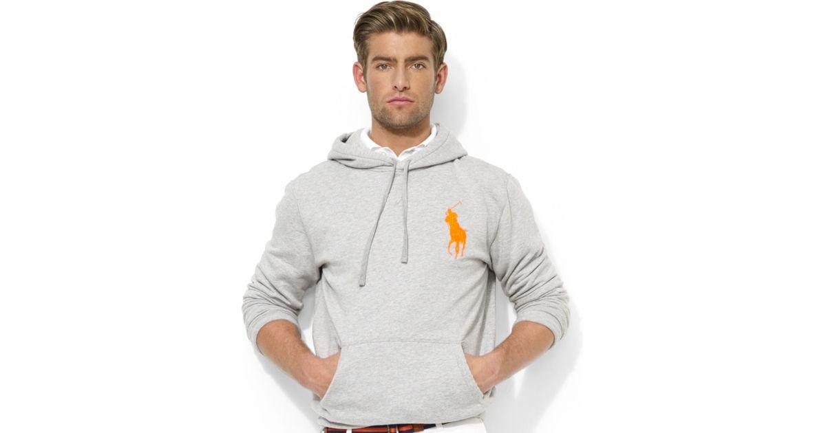 Lyst - Ralph Lauren Polo Big Pony Beach Fleece Pullover Hoodie in Gray for  Men