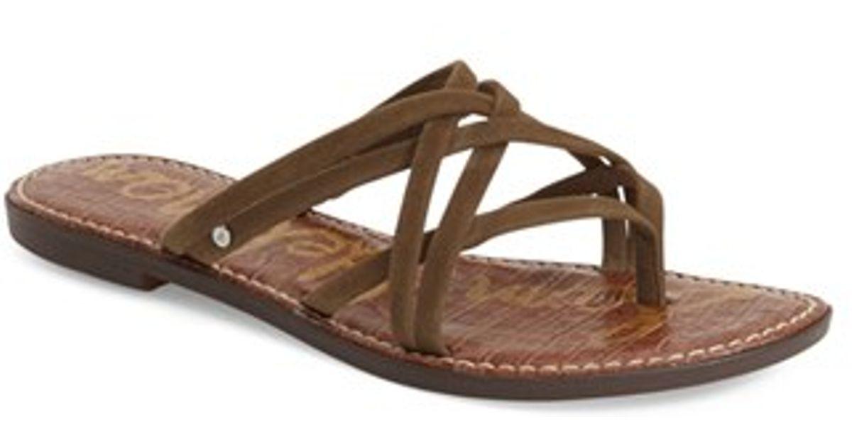 6e93d6d9a Lyst - Sam Edelman  georgette  Sandal in Brown
