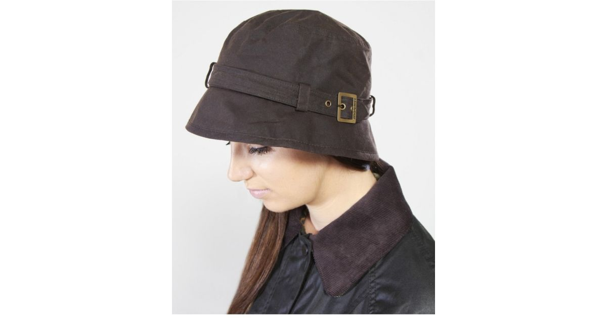 e881cc6742b29 ... germany barbour kelso belted bucket hat in purple lyst 08fa6 2de44