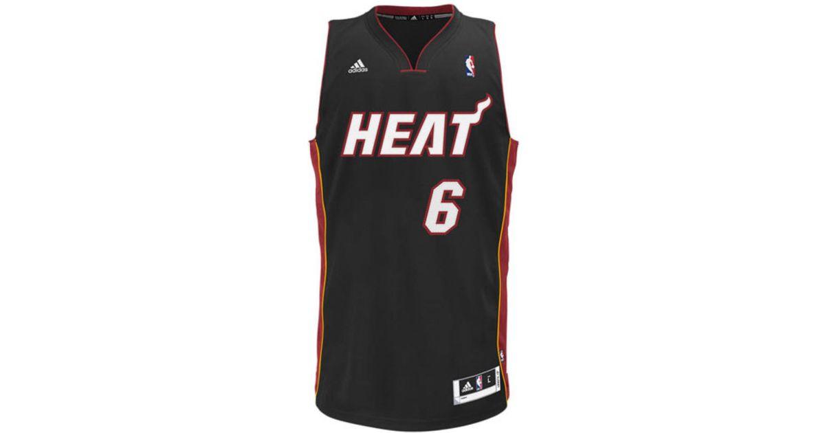 ... canada lyst adidas kids lebron james miami heat swingman jersey in black  for men 36af7 5e8b7 47cf6d166