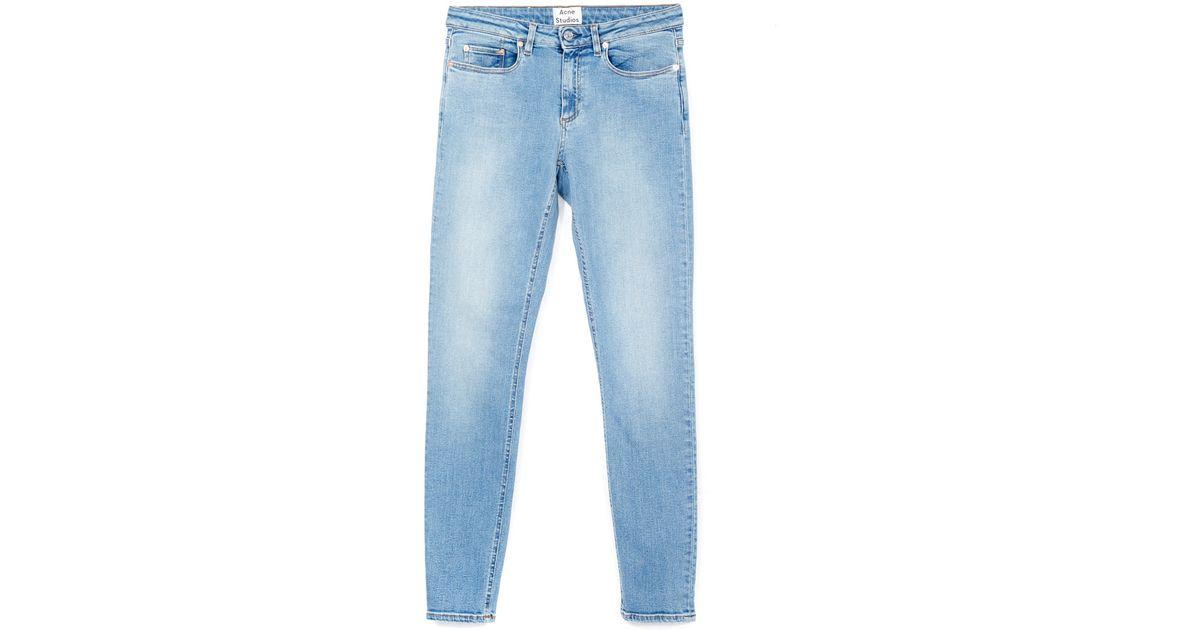 Lyst - Acne Studios Light Blue Fade Skinny Jeans in Blue abc14403b00