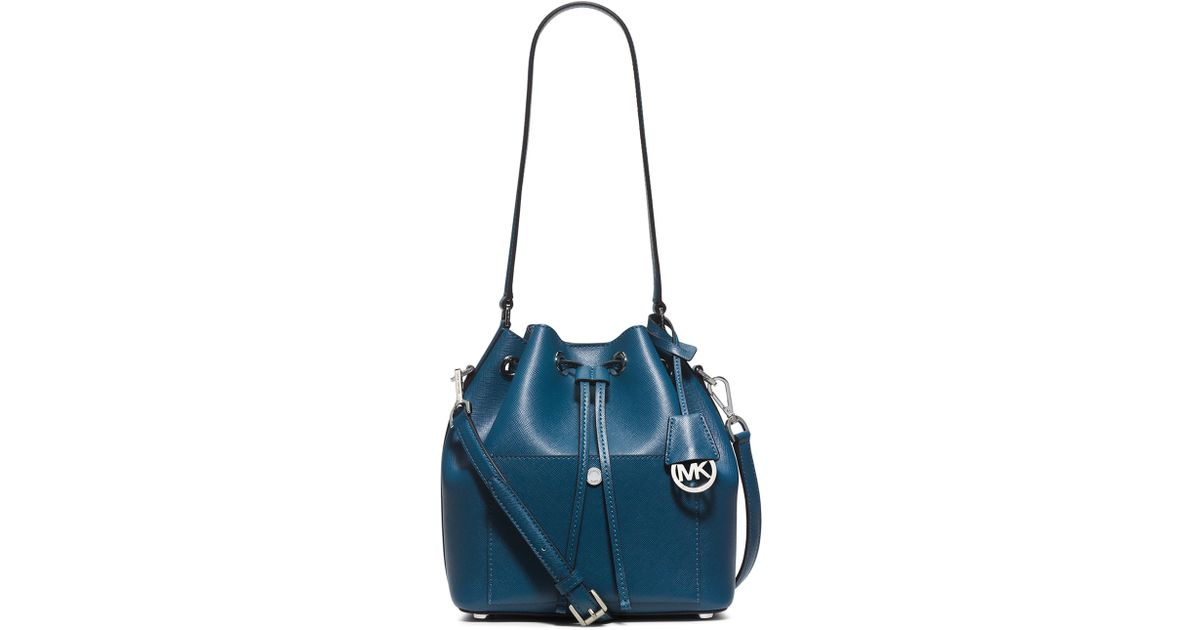 Lyst - MICHAEL Michael Kors Greenwich Medium Bucket Bag in Blue c5f435d7c8855