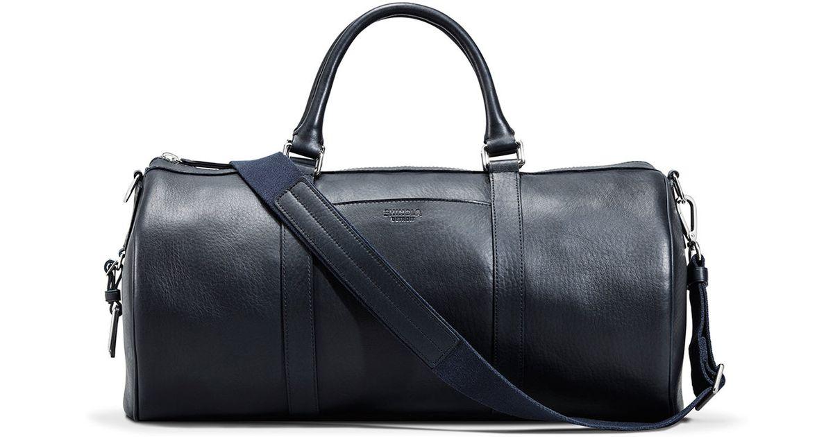 356342f650 Lyst - Shinola Medium Leather Duffle Bag in Blue for Men