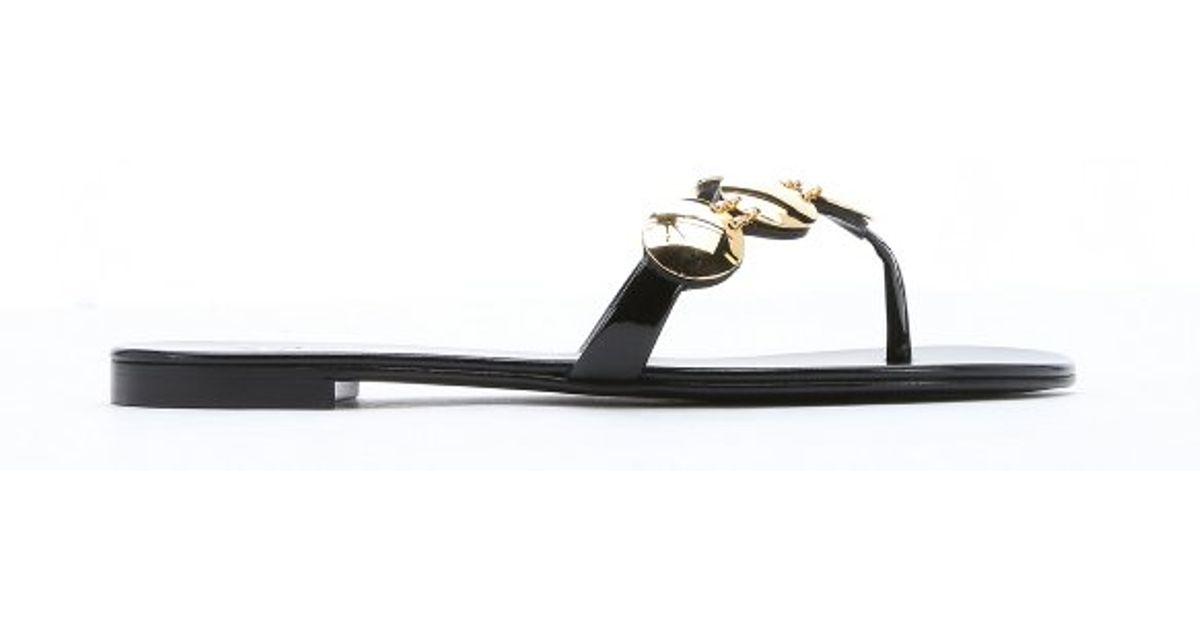 Black Giuseppe Sandals Leather Zanotti Lyst In 10' 'rock qd4pE4wYx