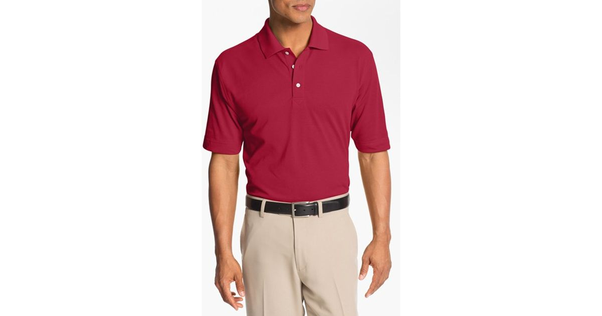 Cutter buck 39 championship 39 drytec golf polo in white for for Cutter buck polo shirt size chart