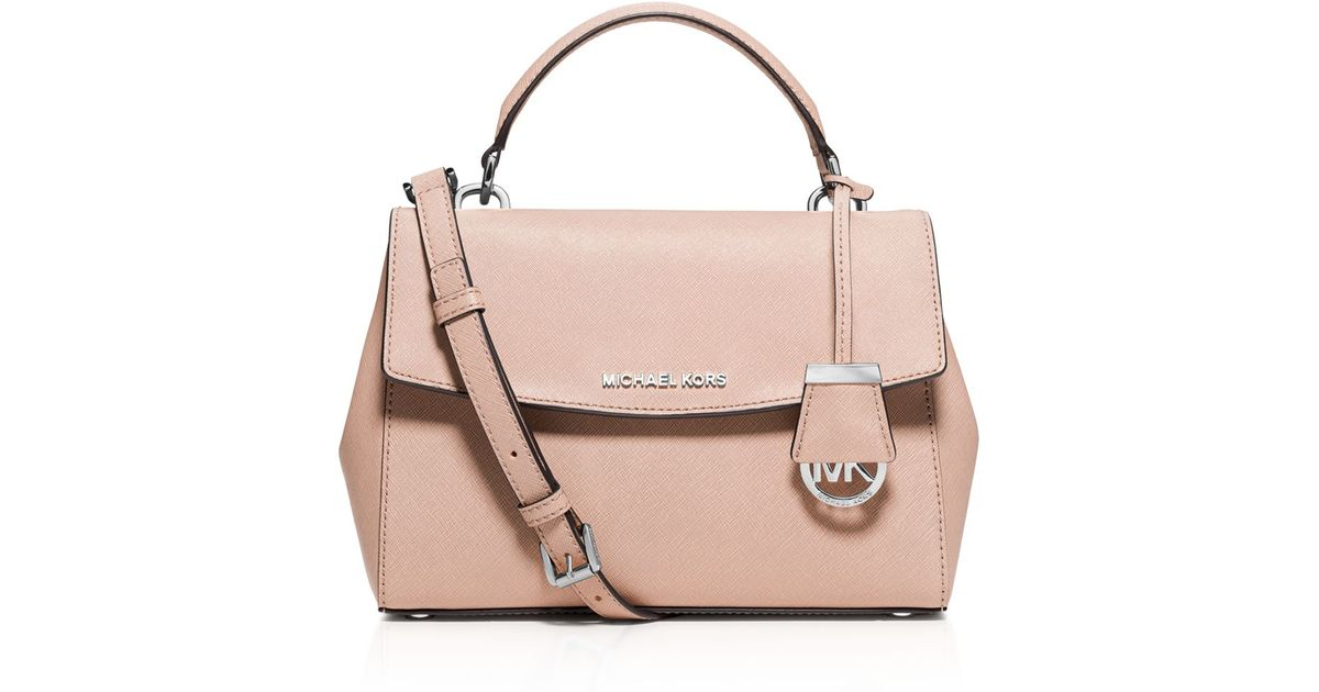 aeaa2e2a5c728 Lyst - MICHAEL Michael Kors Ava Small Top Handle Satchel in Pink