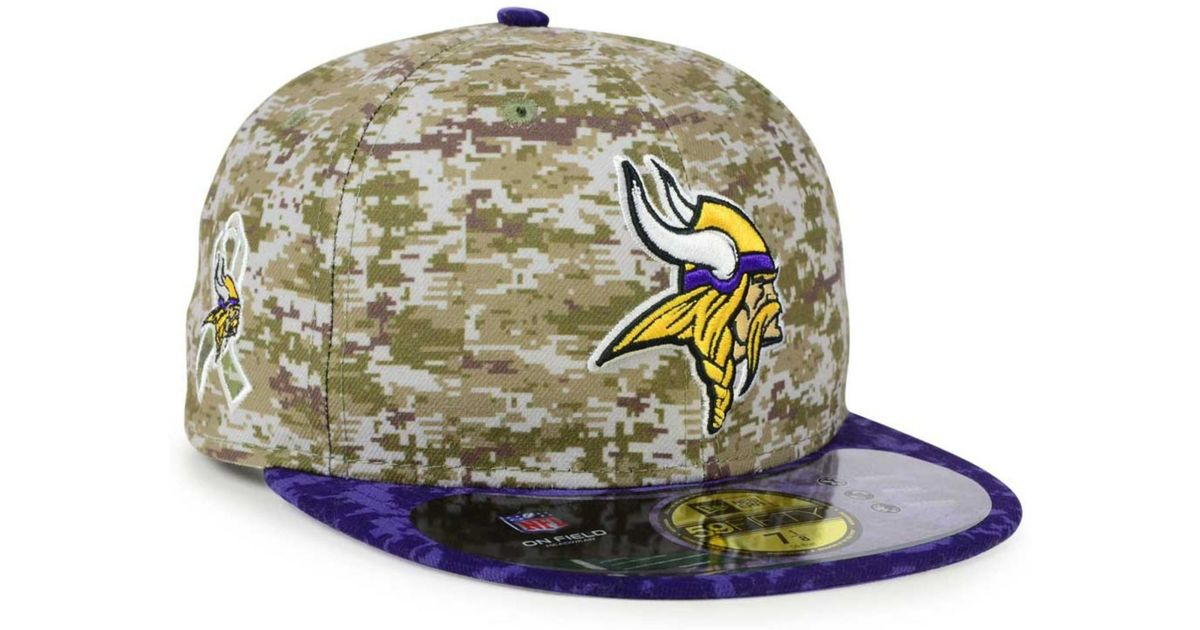 Lyst - KTZ Minnesota Vikings Salute To Service 59fifty Cap in Blue for Men 2b90f5fd337