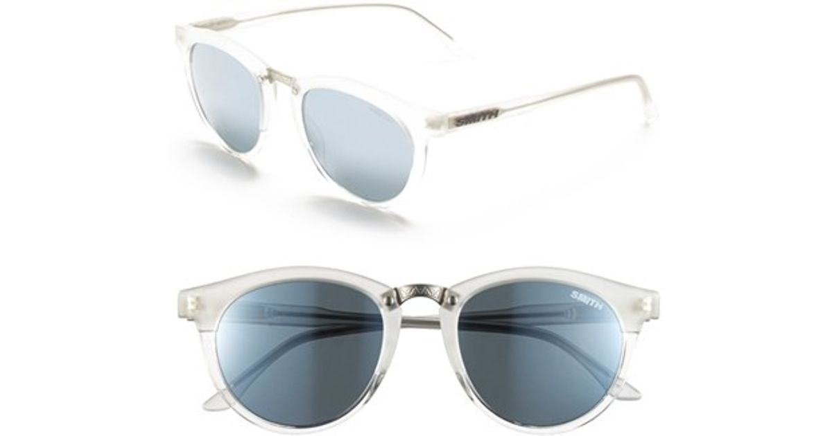 cd6ae88959c78 Lyst - Smith Optics  questa  49mm Cat Eye Sunglasses - Crystal Split  Super  Platinum in Blue