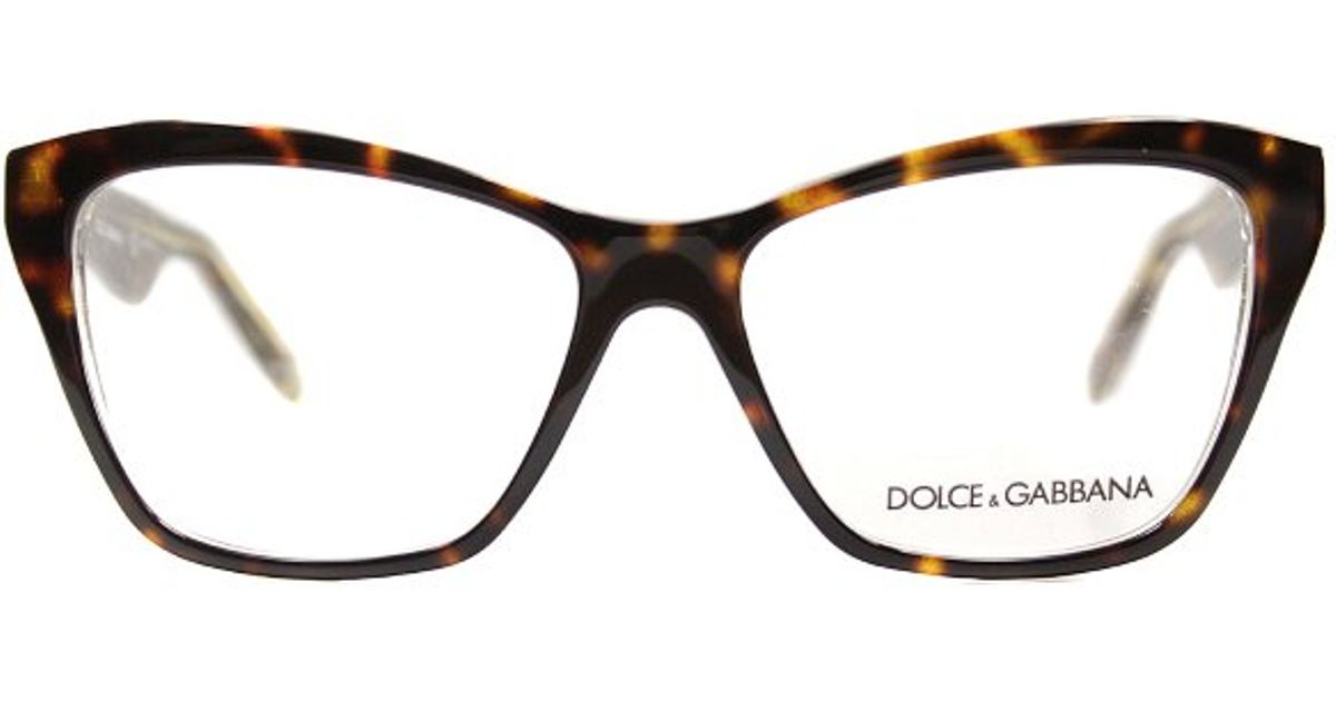 Lyst - Dolce & Gabbana Dg 3167 2738 Havana Glitter Gold Eyeglasses ...