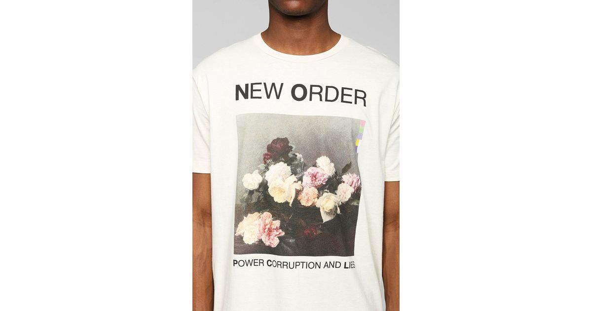 Lyst - Urban Outfitters New Order Tee in White for Men 0f727dc0014f