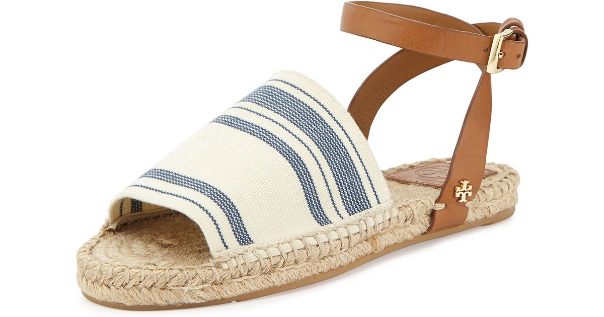 15a16e17905 Lyst - Tory Burch Stretch-Canvas Espadrille Sandal in Blue