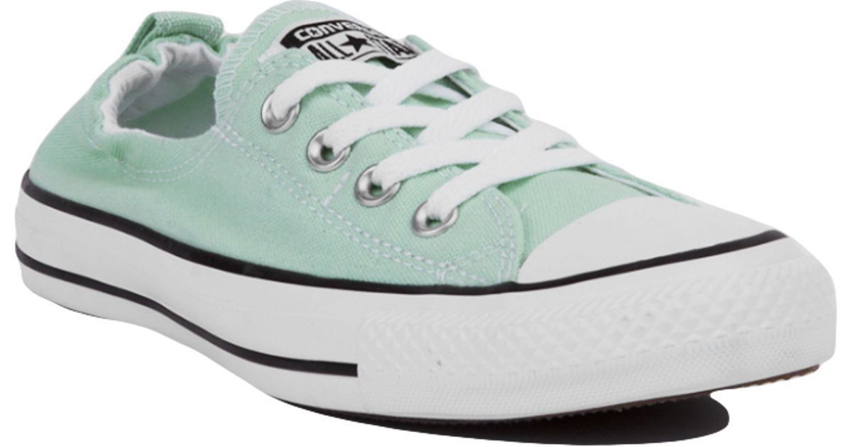 b229cf3f38a4 ... authentic converse chuck taylor shoreline slip on low top sneakers mint  in green lyst 8e9ad 2545f cheap womens converse ...