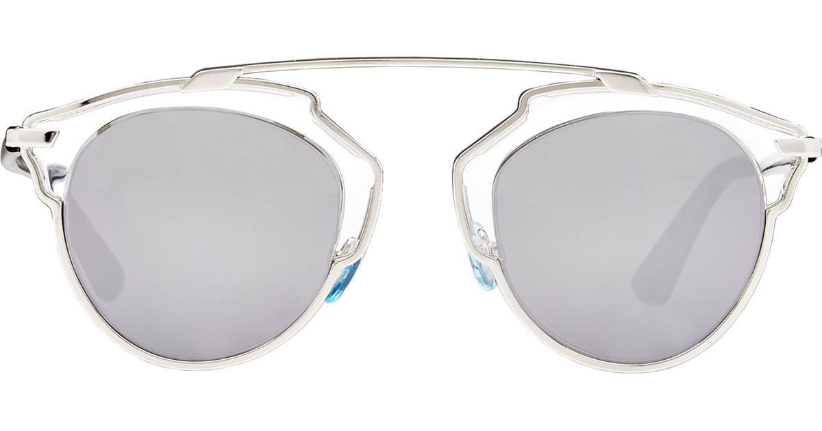 52d318d3aa Lyst - Dior So Real Sunglasses in Metallic