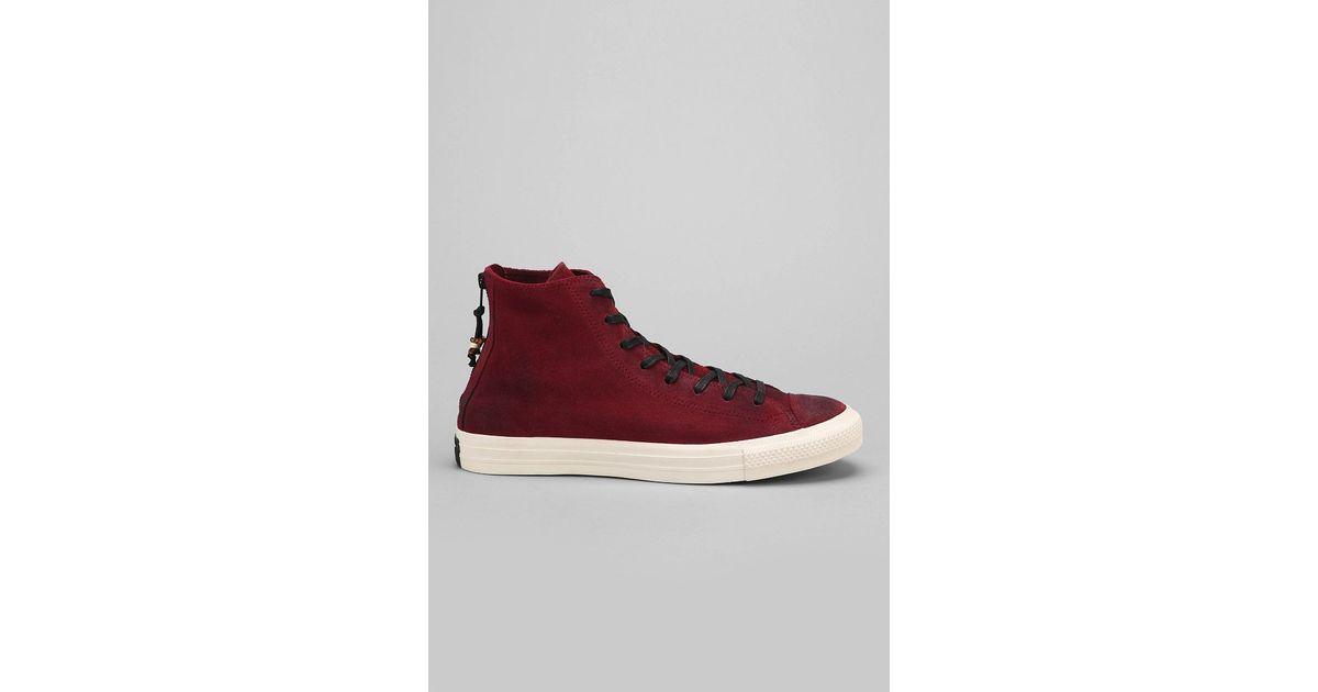 28d6dfc89ee7 Lyst - Converse Chuck Taylor All Star Heel-Zip Suede High-Top Men S Sneaker  in Purple for Men