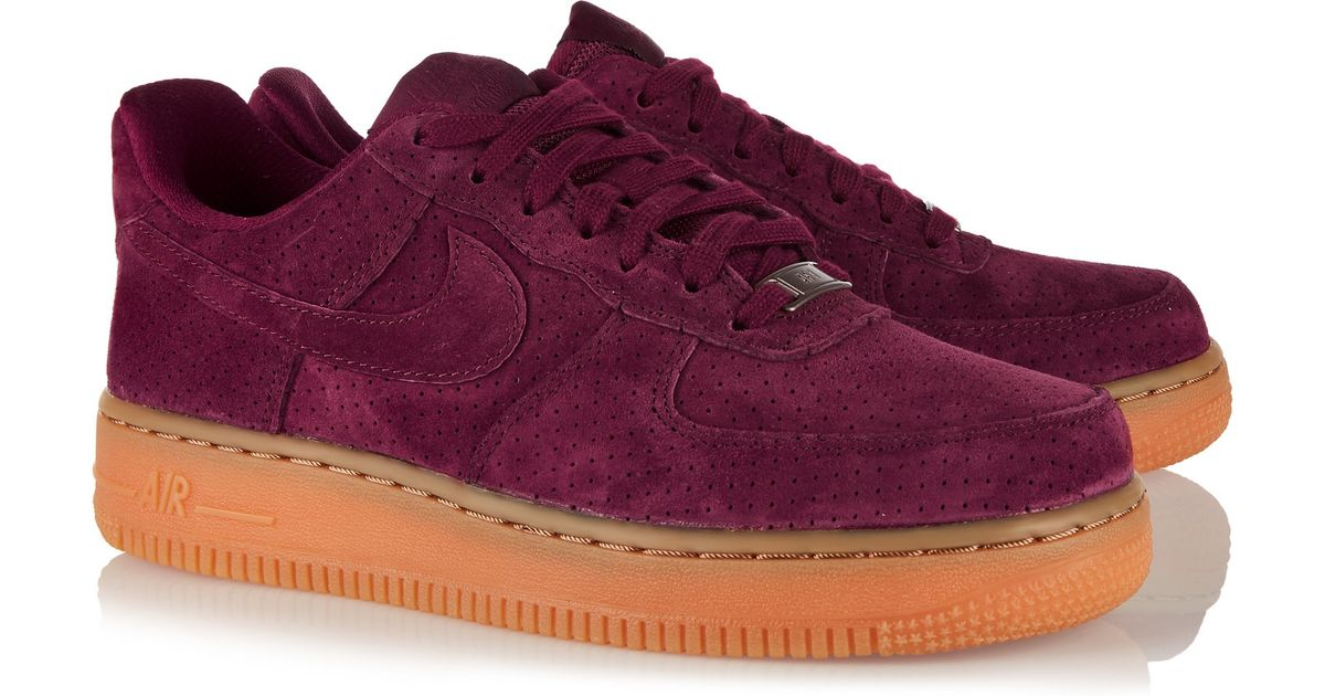 online store 48ec1 7d3b4 ... inexpensive nike air force 1 07 suede sneakers in purple lyst 23e4b  fc9c9