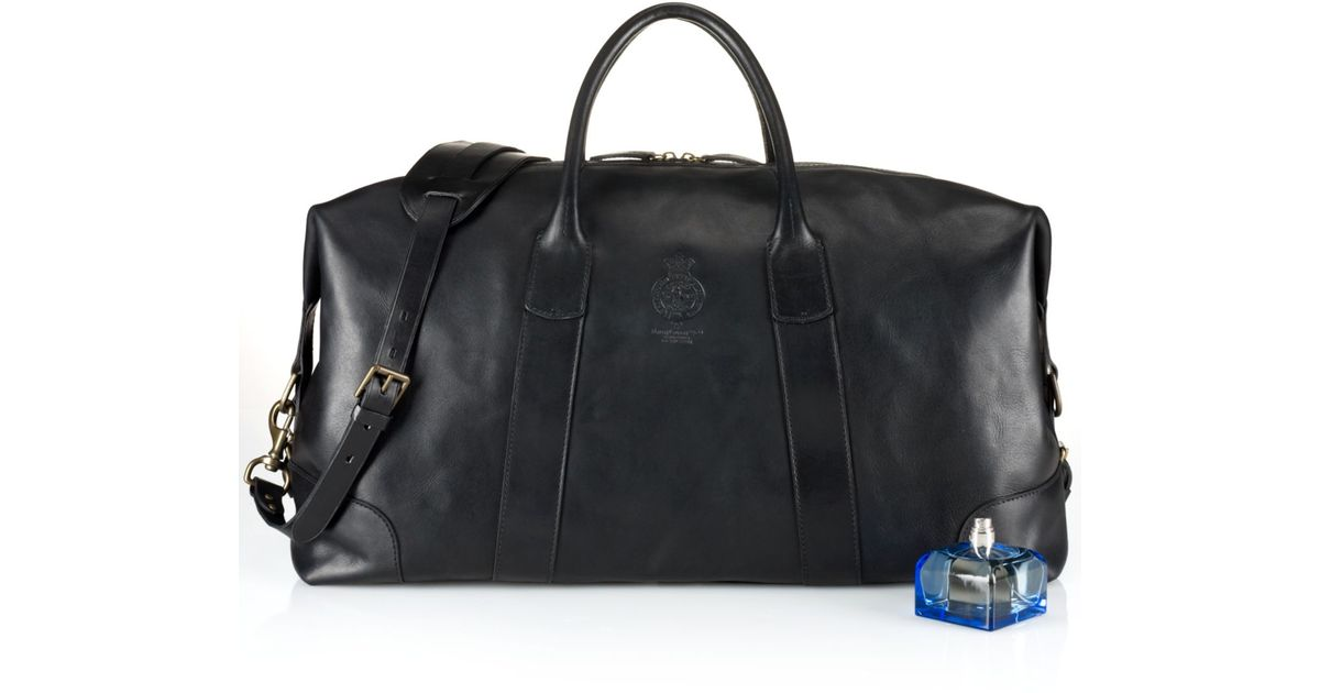 promo code for lyst polo ralph lauren core leather duffle bag in black for  men 2ccb7 528dfc440c