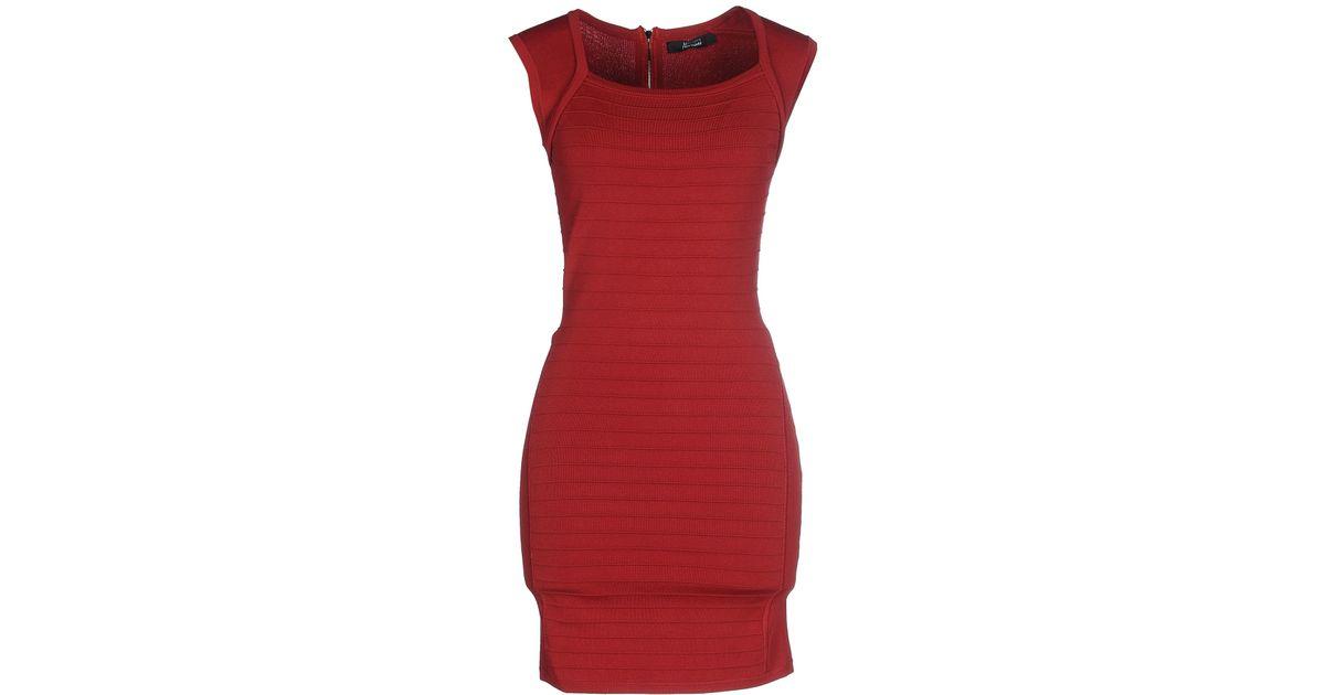 af516e61c64 Guess - Red Short Dress - Lyst