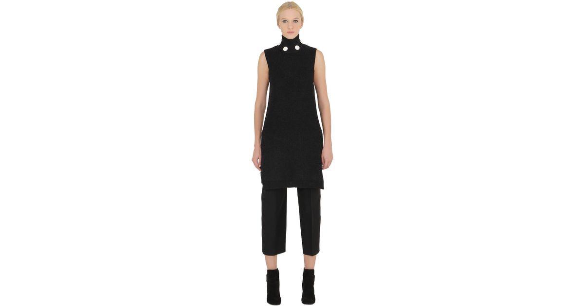 Lyst Edun Chunky Merino Wool Blend Sweater Dress In Black
