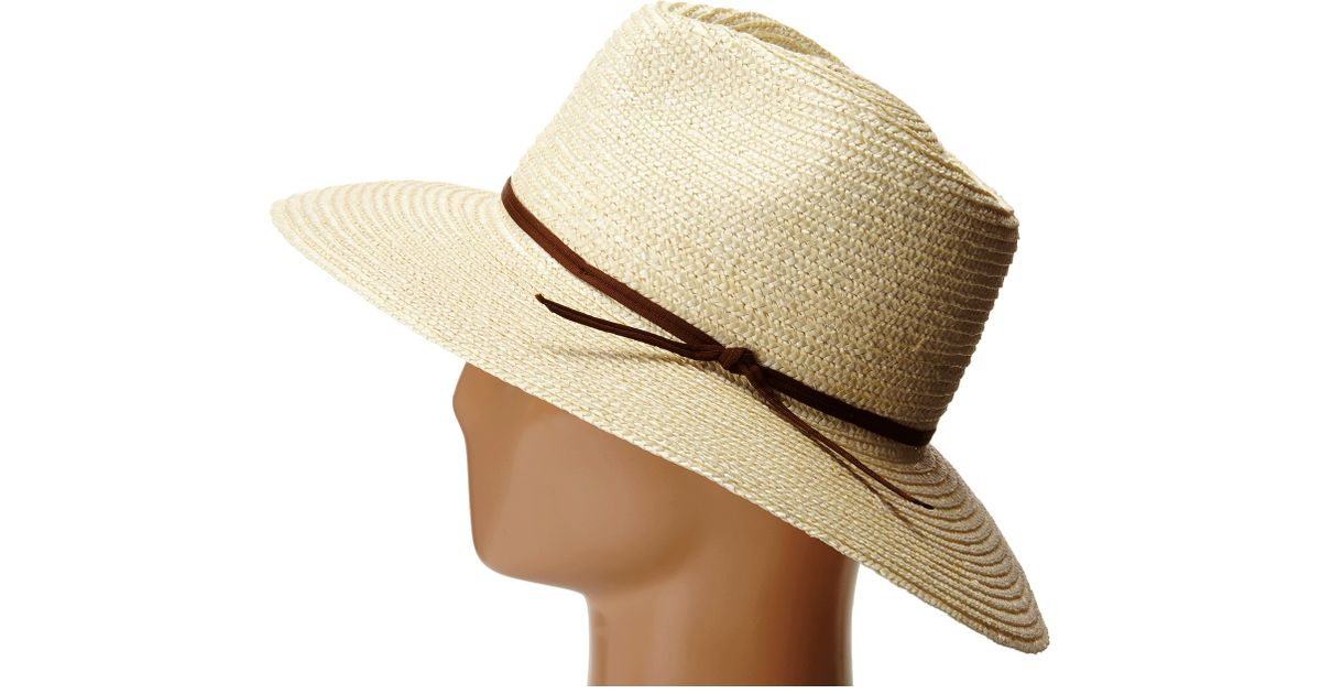 be04cfe27cfefc usa lyst brixton bristol hat in natural c0d9c e24b3