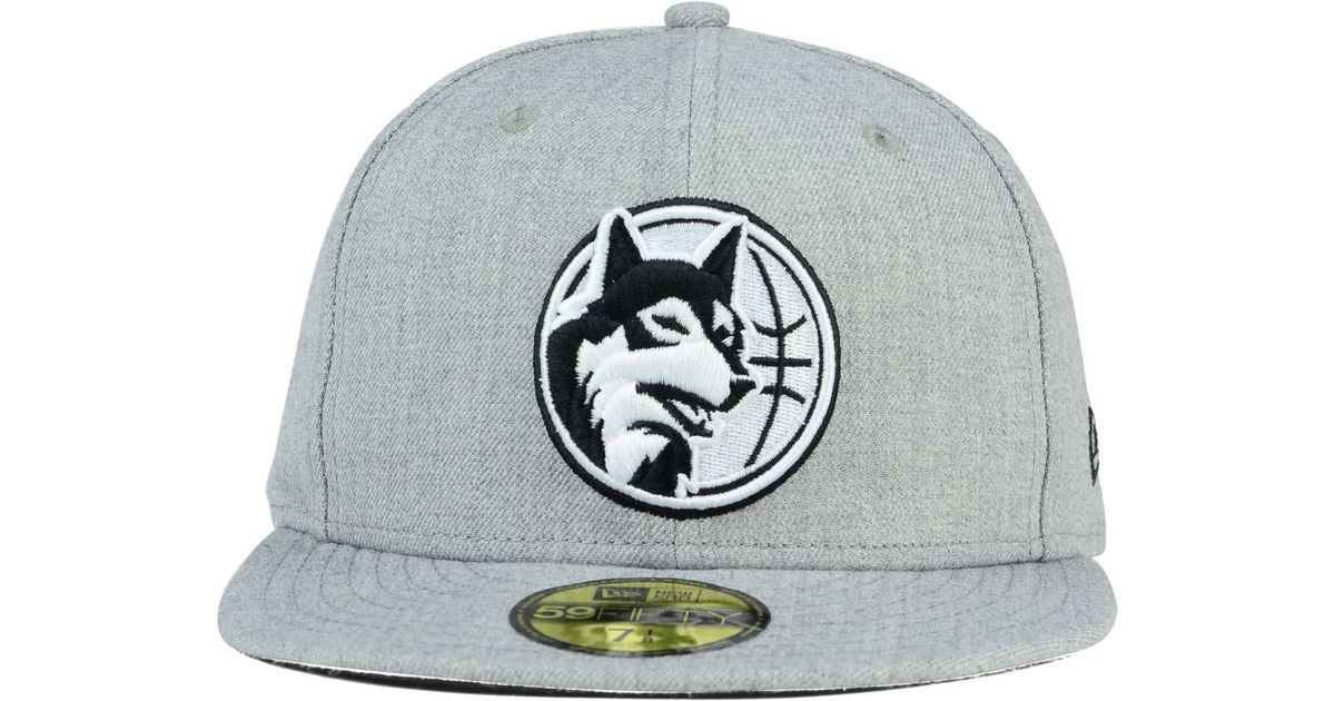 premium selection 3d1ea 0158a ... new era nba solid team 59fifty cap lids cf788 70fa6  denmark lyst ktz minnesota  timberwolves heather black white 59fifty cap in gray for men bd61d 67f7a