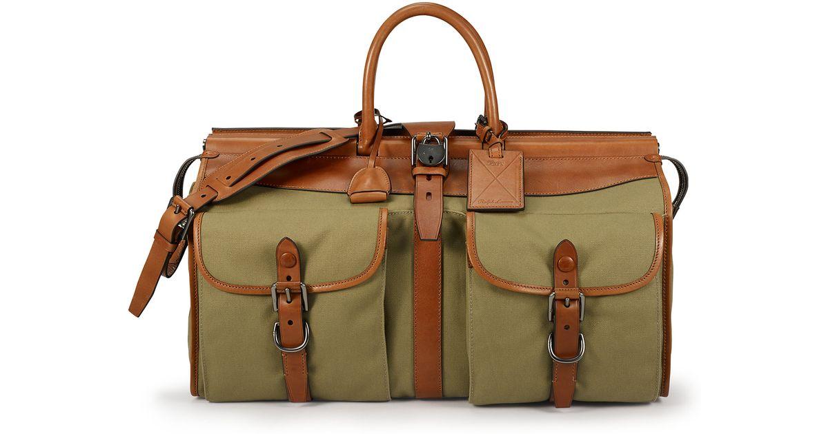 ba34593e0d Lyst - Ralph Lauren Pole Canvas Bag in Green for Men