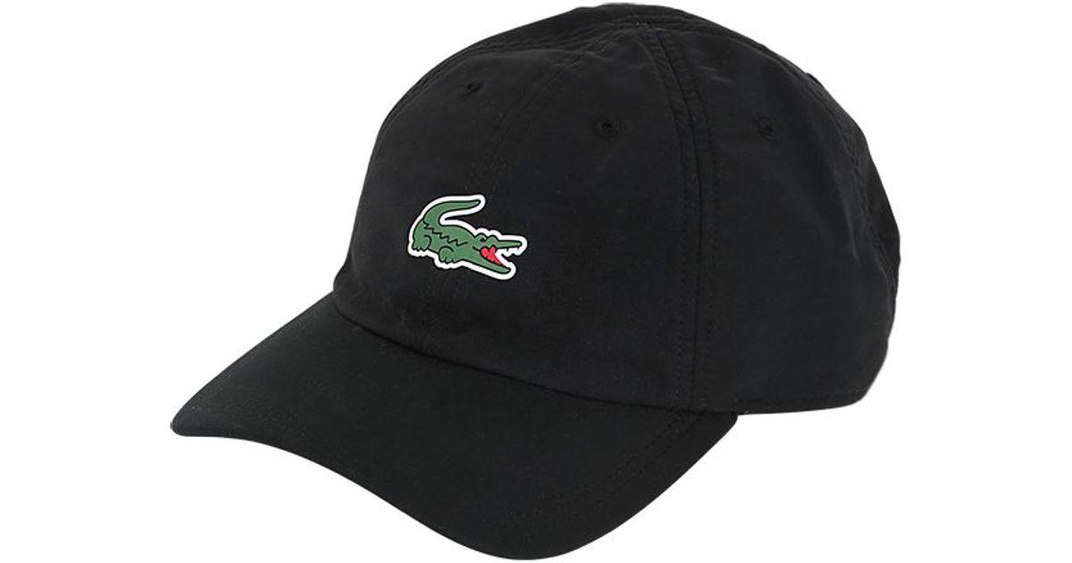 Lyst - Lacoste Microfiber Tennis Hat in Black for Men e13d9ae5121