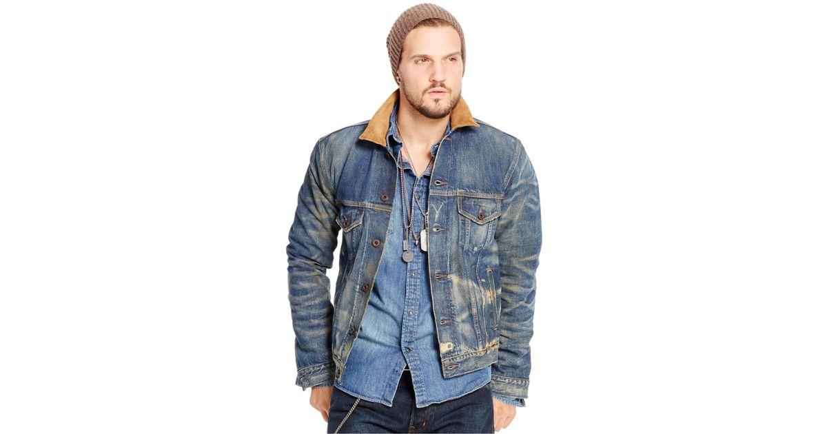 Lyst - Denim   Supply Ralph Lauren Austin Denim Trucker Jacket in Blue for  Men 6ab4d5f19dcc