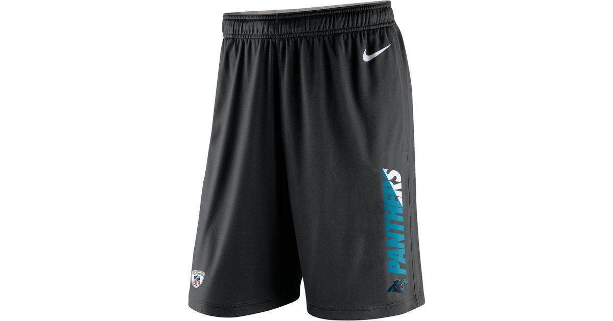 Mens Carolina Panthers Nike Black Logo T-Shirt