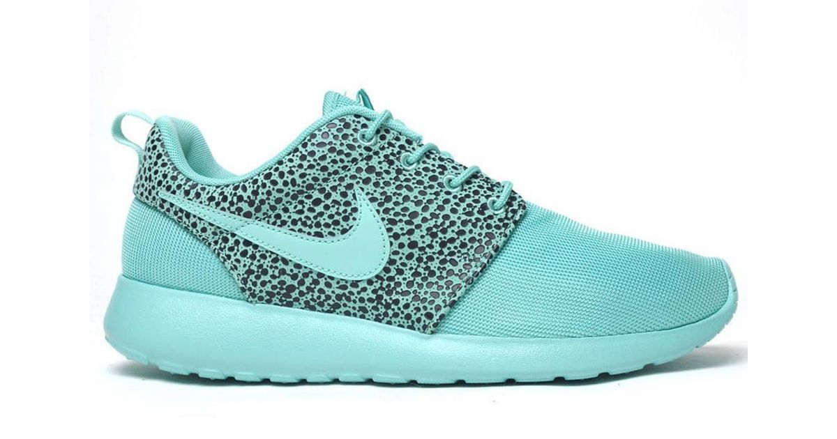 separation shoes b2912 1f08c ... where to buy lyst nike roshe run safari crystal mint in green for men  d909d 46cf1
