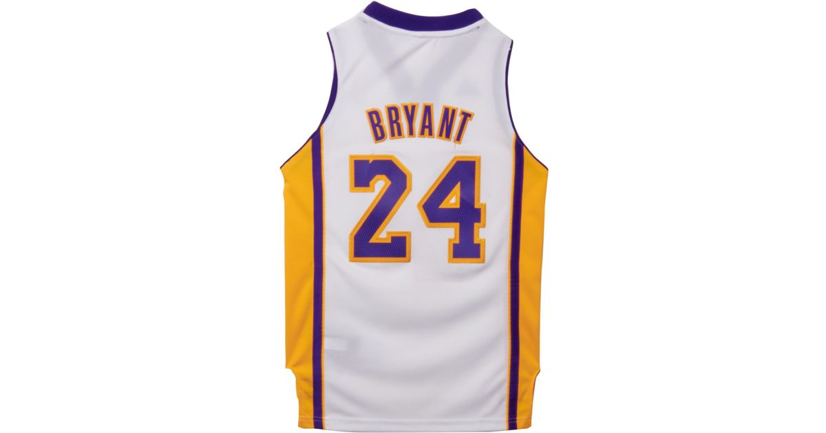 55777612b894 Lyst - adidas Kids  Kobe Bryant Los Angeles Lakers Swingman Jersey in White  for Men