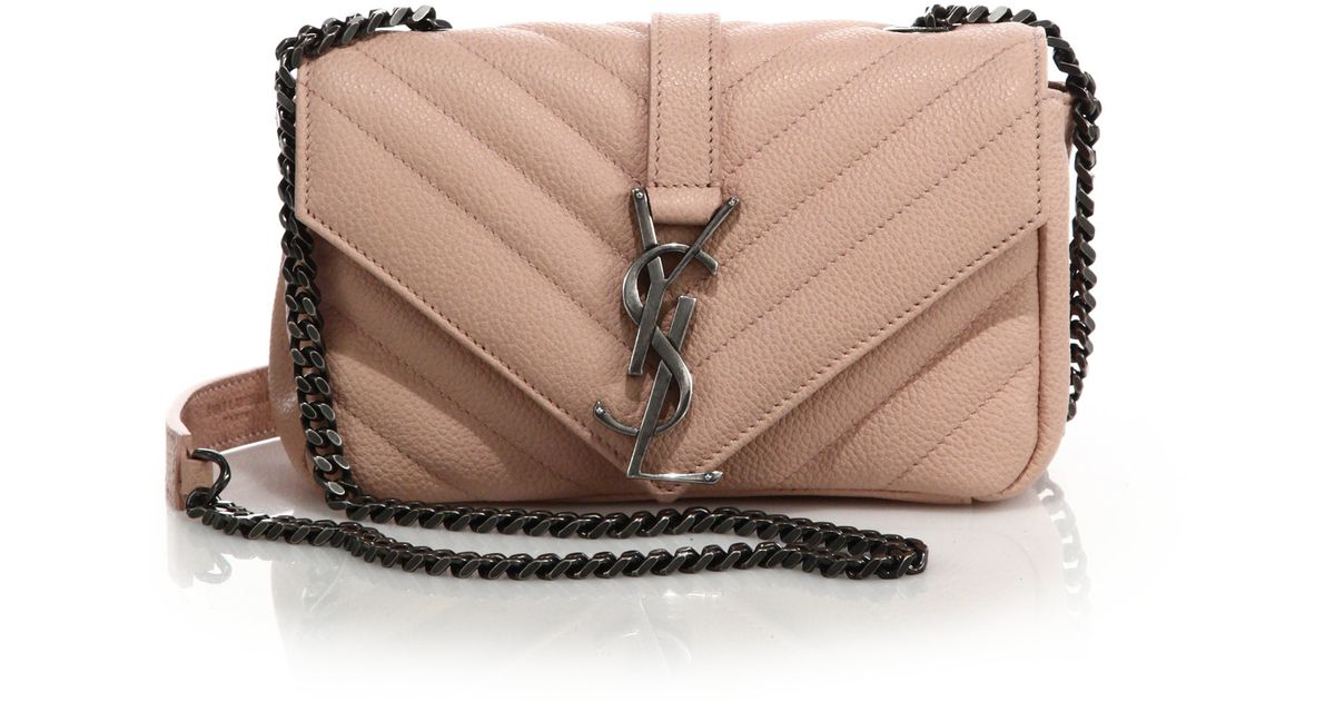 ysl chyc clutch beige - monogram saint laurent blogger bag in powder pink leather
