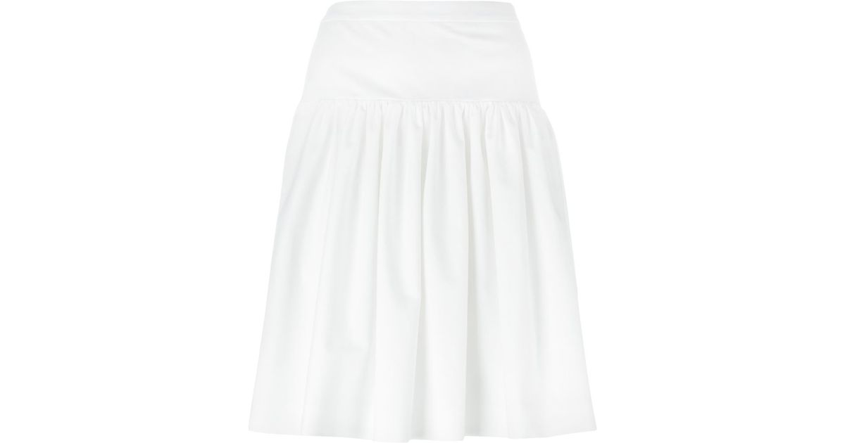 boutique moschino a line skirt in white lyst