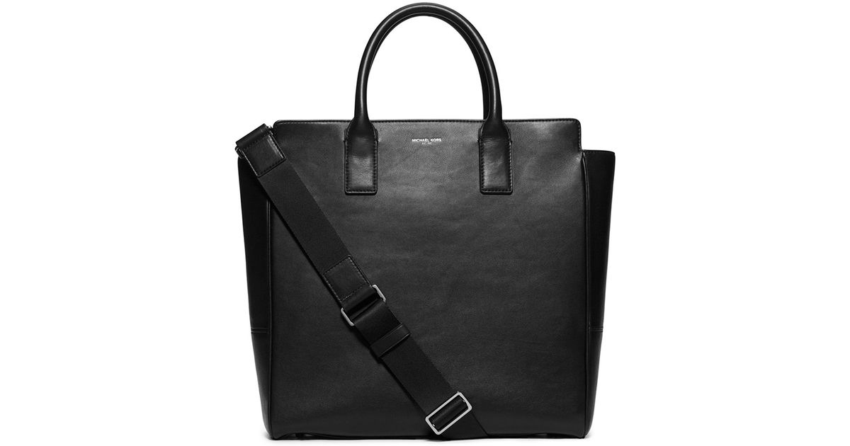 ef8731988fd46 Lyst - Michael Kors Dylan Soft Leather Tote Bag in Black