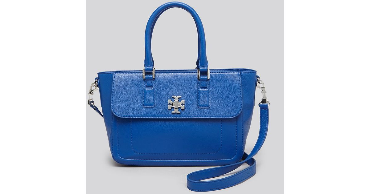 4dbbb732df8 Lyst - Tory Burch Satchel - Mercer Mini in Blue