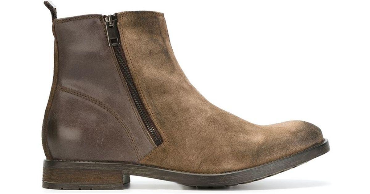 Diesel Leather D-Anklyx Boots egYuOpaU