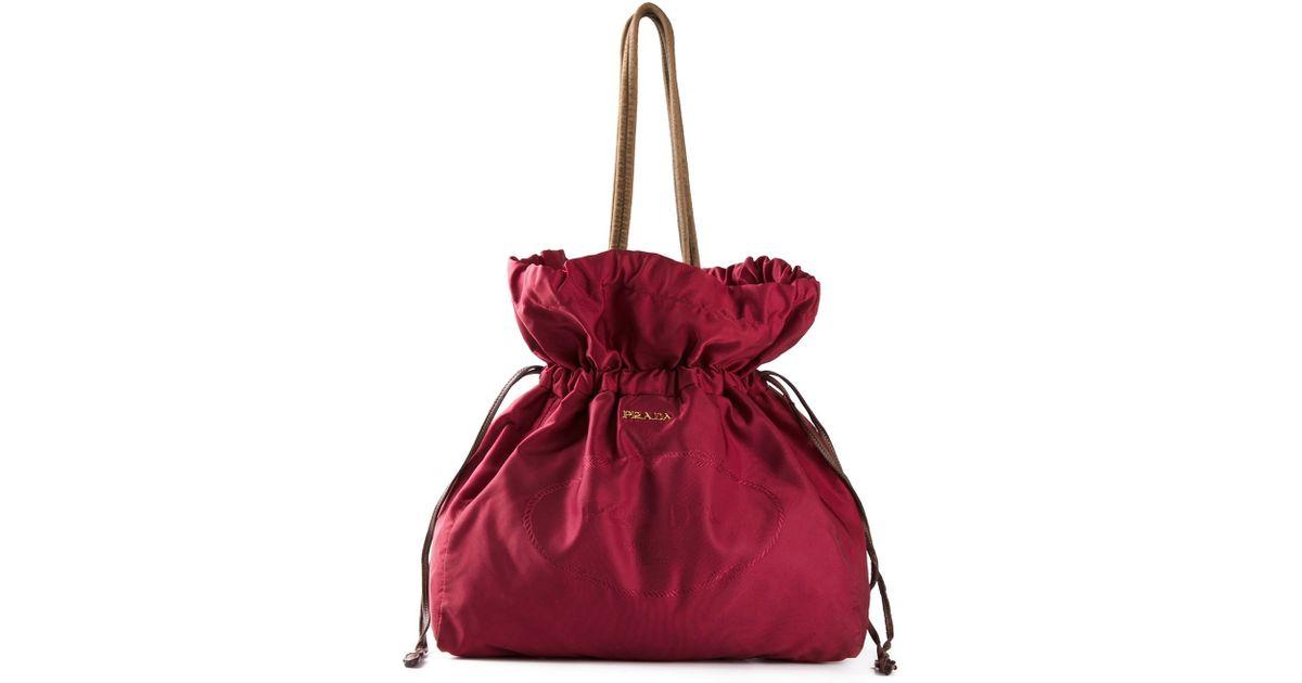 prada scamosciato shoulder bag