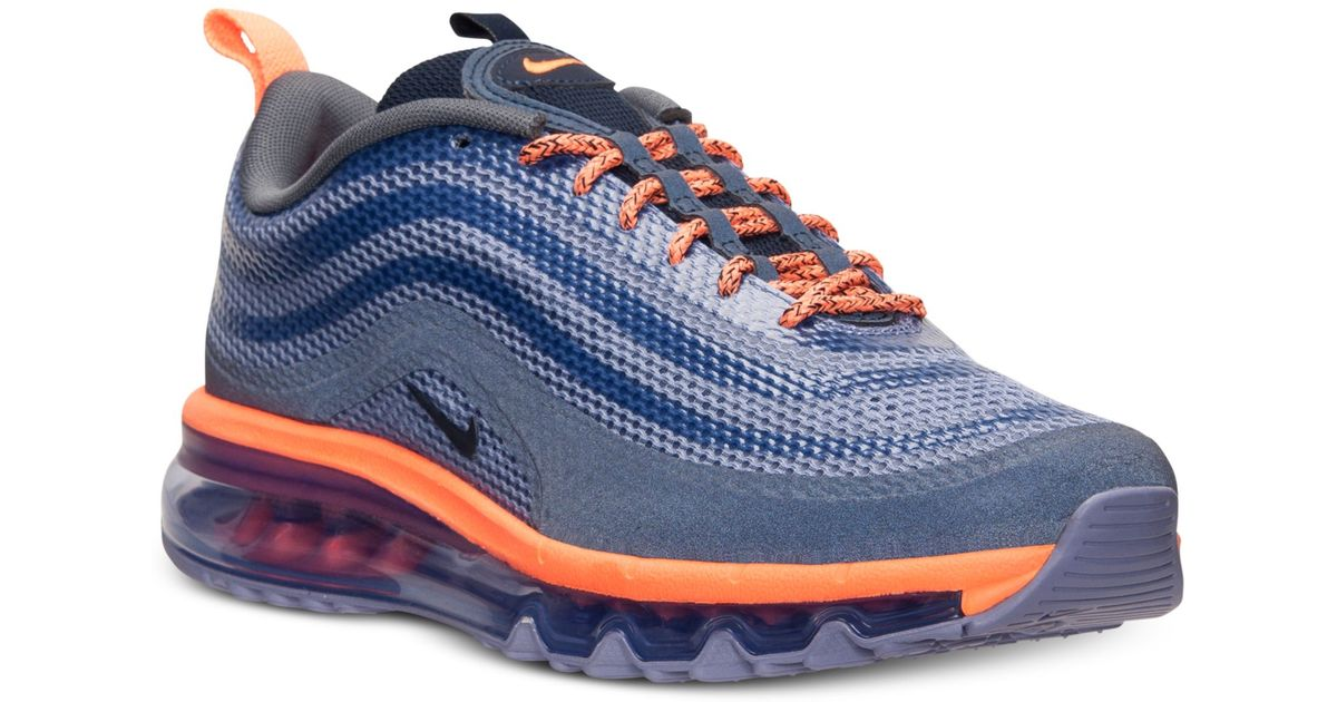 save off 77f10 4812a Nike Mens Air Max 97 Hyp Running Sneakers From Finish Line in Blue for Men  - Lyst