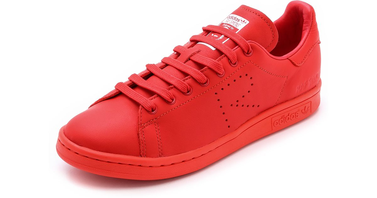 reputable site ee647 9538e Lyst - adidas By Raf Simons Stan Smith Leather Sneakers in R